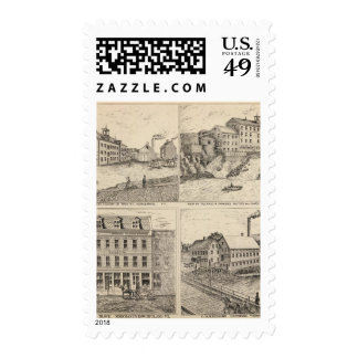 Factory and tannery in Vergennes Postage