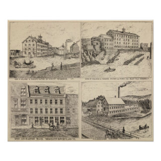 Factory and tannery in Vergennes Poster