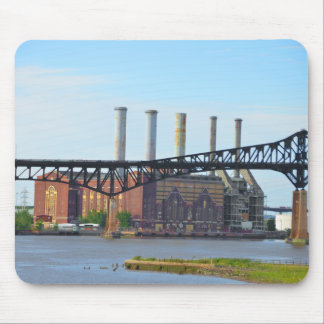 Factory Behind the Bridge Mousepad