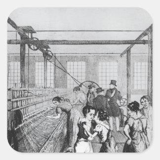 Factory Children, or Love conquerd fear Square Sticker