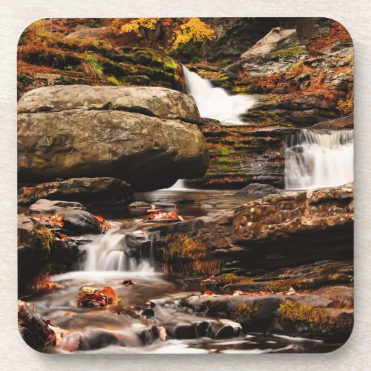 Factory Falls in Autumn Beverage Coaster