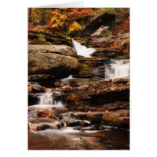 Factory Falls in Autumn Card