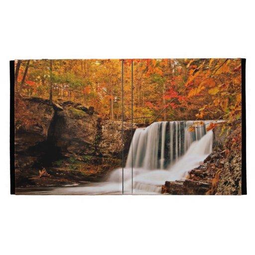 Factory Falls in Autumn iPad Folio Covers