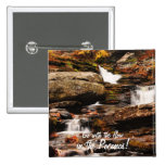 Factory Falls in Autumn Pinback Button