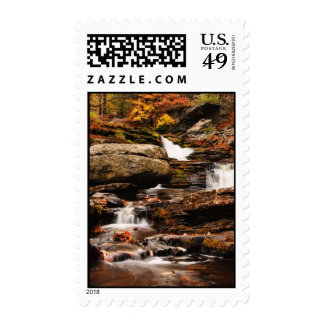 Factory Falls in Autumn Postage