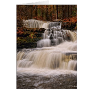 Factory Falls in the Poconos of Pennsylvania Card