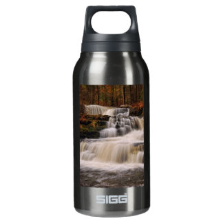 Factory Falls in the Poconos of Pennsylvania Insulated Water Bottle