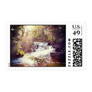 Factory Falls in the Poconos of Pennsylvania Postage