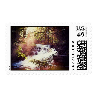 Factory Falls in the Poconos Painting Postage