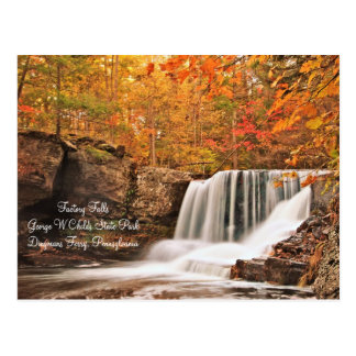 Factory Falls, Pennsylvania Postcard