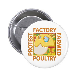 Factory Farm Animal Rights Pinback Button