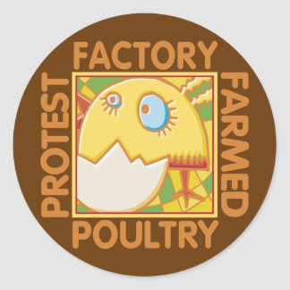 Factory Farm Animal Rights Classic Round Sticker