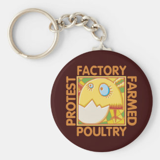 Factory Farm Animal Rights Keychain