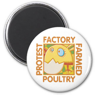 Factory Farm Animal Rights Magnet