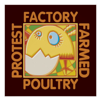Factory Farm Animal Rights Poster