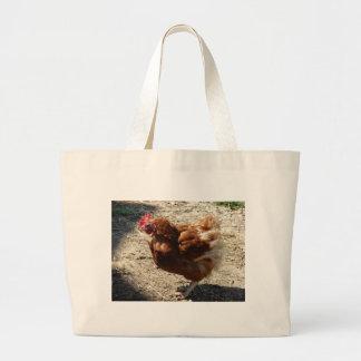 Factory Farm Hen Large Tote Bag