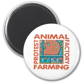 Factory Farming 2 Inch Round Magnet