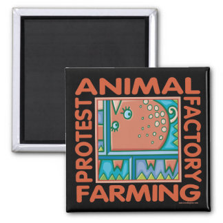 Factory Farming 2 Inch Square Magnet