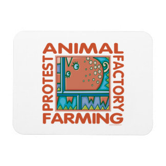 Factory Farming, Animal Rights Rectangle Magnets