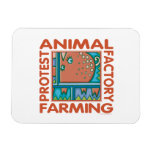 Factory Farming, Animal Rights Rectangular Photo Magnet