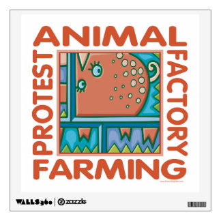 Factory Farming, Animal Rights Wall Decal