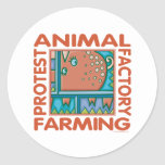 Factory Farming Classic Round Sticker