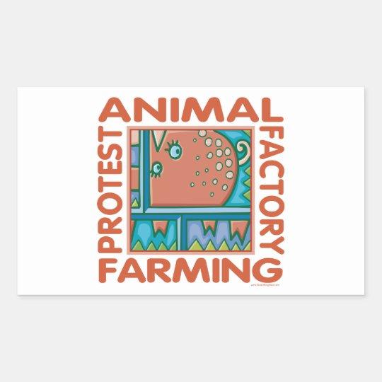 Factory Farming Rectangular Sticker