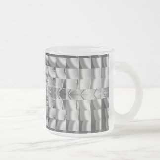 Factory Fractal Design Frosted Glass Coffee Mug