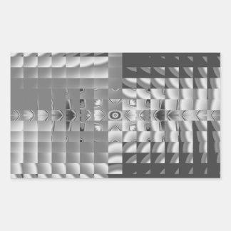 Factory Fractal Design Rectangular Sticker
