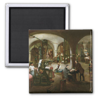 Factory in the Rue d'Aubagne, 1861 2 Inch Square Magnet