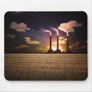 Factory Night Mouse Pad
