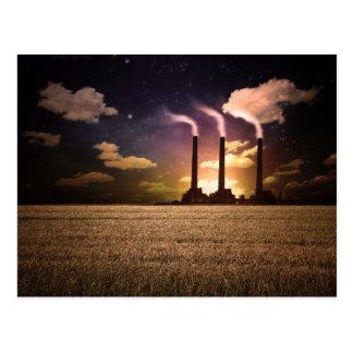 Factory Night Postcard