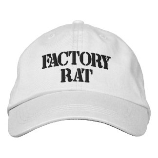 Factory Rat Personalized Adjustable Hat Embroidered Hat