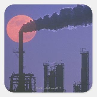 Factory Smokestacks Square Sticker