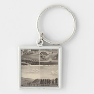 Factory, Stores and Residences, Minnesota Keychain