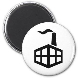 Factory symbol 2 inch round magnet