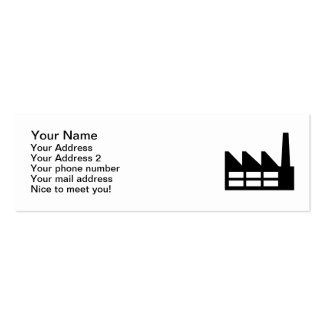 Factory symbol Double-Sided mini business cards (Pack of 20)