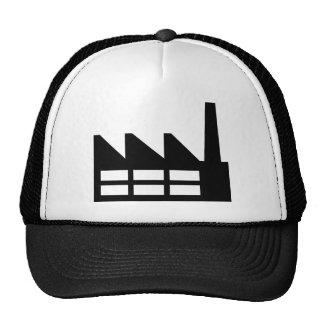 Factory symbol mesh hats