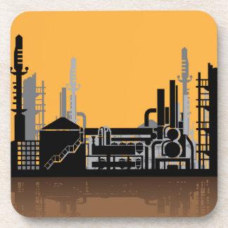 Factory vector drink coaster
