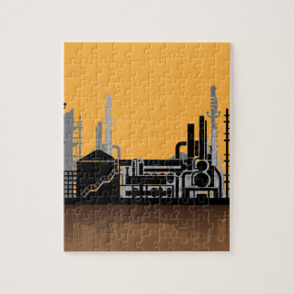 Factory vector jigsaw puzzle
