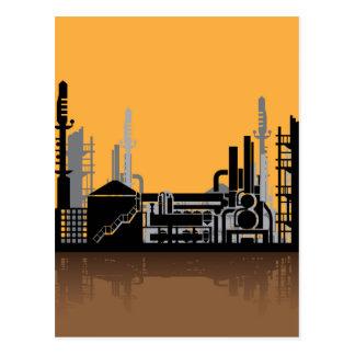 Factory vector postcard