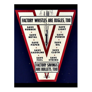 Factory Whistles Are Bugles Too Post Card