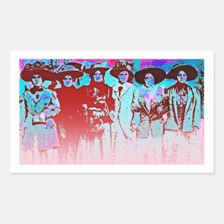 Factory Women Strike 1909 Rectangular Sticker