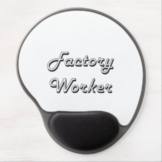 Factory Worker Classic Job Design Gel Mouse Pad