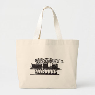 Factory Workers Large Tote Bag
