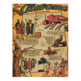 Facts About Alabama Postcard