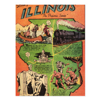 Facts About Illinois the Pairie State Postcard