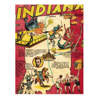 Facts About Indiana Postcard