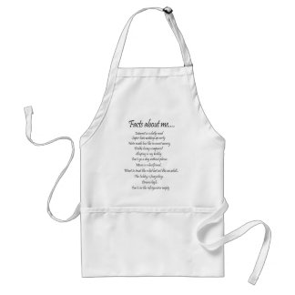 Facts about me adult apron