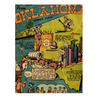 Facts About Oklahoma Post Card